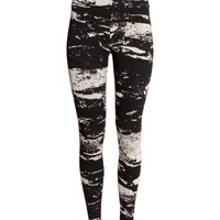Patterned Leggings - from H&M