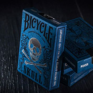 Special Edition Blue Original Ghost Bicycle Skull Playing Cards