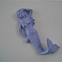 Pretty Little Mermaid Hook/Hanger by UrbanUpcycles on Etsy