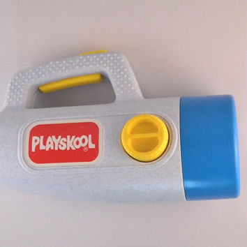 Vintage 1986 Playskool Flashlight, Color Changing Flashlight For Children