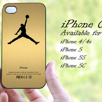 jordan gold design iphone case for iphone 4 case, iphone 4s case,iphone 5 case, iphone 5s case, iphone 5c case
