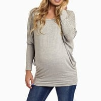 Grey-Long-Sleeve-Maternity-Top