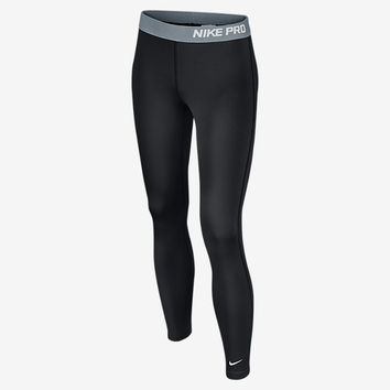The Nike Pro Hyperwarm 3.0 Girls' Training Tights.