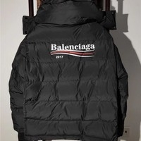 SPBEST REPLICA Balenciaga 2017 Black Padded hooded windbreaker coat (bernie sanders inspiration)