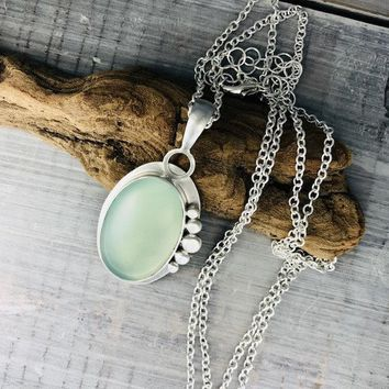 Oval Chalcedony Necklace