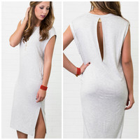The Edge Of Glory Heather Gray Basic Lounge T-Dress