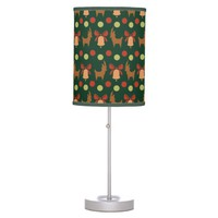 Tis the Season Pattern Desk Lamp