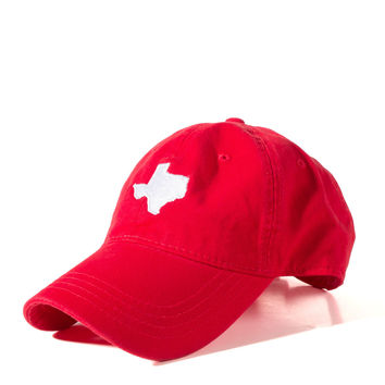 Red and White Texas Hat