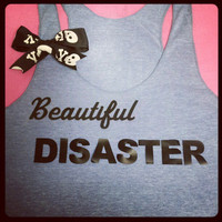 Jamie McGuire Novel Beautiful Disaster Inspired Racerback Tank