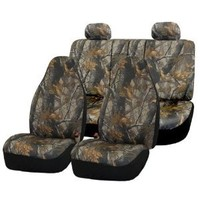 FH-FB111114 Hunting Camouflage Car Seat Covers, Airbag compatible and Split Bench
