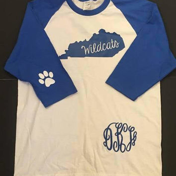 Kentucky wildcats raglan