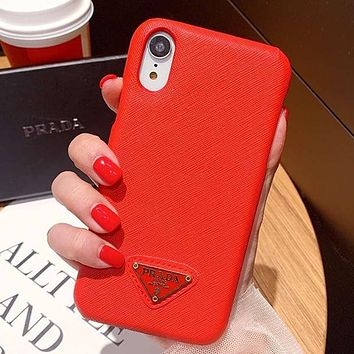Prada Fashion iPhone Phone Cover Case For iphone 6 6s 6plus 6s-plus 7 7plus 8 8plus iPhone X XR XS XS MAX