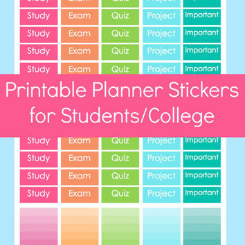 homework stickers planner stickers from commandcenter on etsy