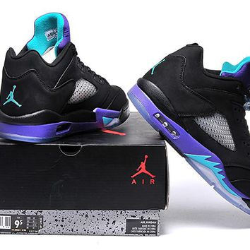 "Air Jordan 5 Retro ""Black Grape""Basketball shoes"