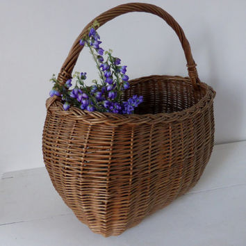Vintage French Market Basket