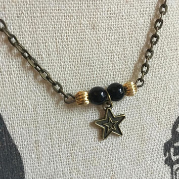 Sorority Necklace, Kappa Alpha Theta, Twin Stars, Black Gold, Dainty Necklaces, Minimal Star, Small Star Necklaces, Big Sis, Little Sis Gift