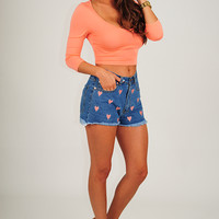 Forget Me Knot Top: Bright Coral