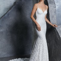 Morilee 8209 Kiley Fitted Lace Sheath Wedding Dress