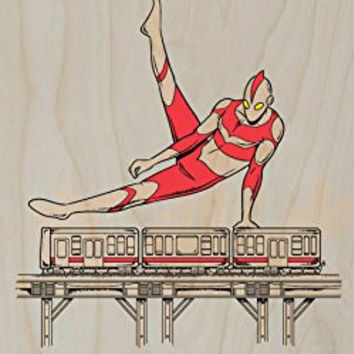 'Tokyo Pommel Horse' Hero & Train Gymnastics - Plywood Wood Print Poster Wall Art