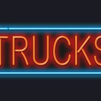 Trucks GLASS Tube neon light sign Handcrafted Automotive signs Shop Store man cave bar gas oil