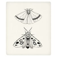 Eastern Moths Fleece Throw