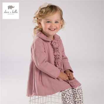 DB3777 davebella girls outerwear children coat kids clothes