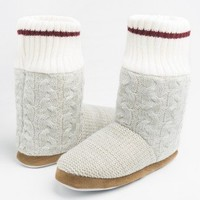 Cableknit bootie slippers