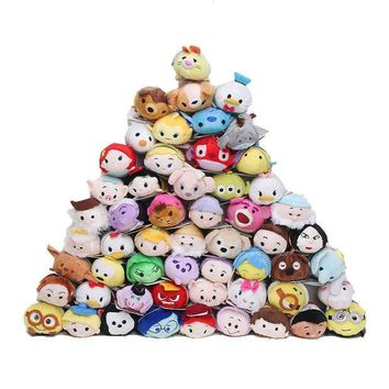 DCCKL72 7-9cm Tsum Tsum Plush doll Duck toys Cute doll Screen Cleaner Mermaid min toy inside out despicalbe me keychain plush toy