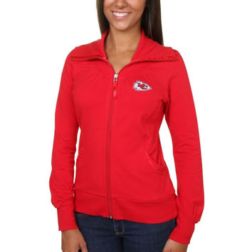 Kansas City Chiefs Cutter & Buck Women's Vancouver Full Zip Sweatshirt - Red