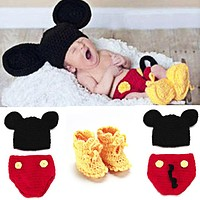 Newborn Photography Props with Baby Shoes Mouse Baby Crochet Knit Costume Photo Photography Prop Outfits newborn