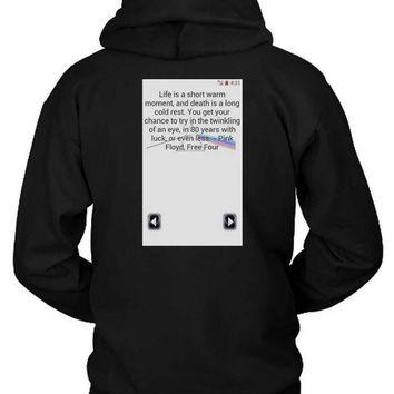 CREYH9S Pink Floyd Quote Screenshoot Hoodie Two Sided