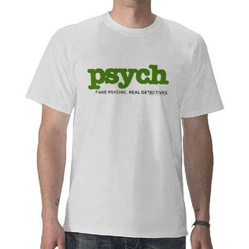 Fake Psychic. Real Detectives. T-Shirt from Zazzle.com