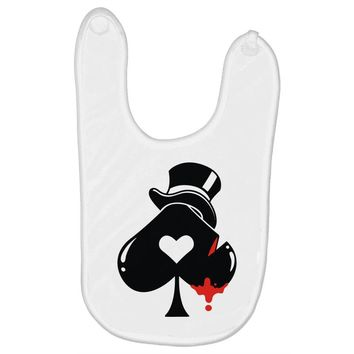 poker hat ace of spades Baby Bibs