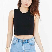 Truly Madly Deeply Cropped French Terry Muscle Tank-