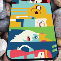 faces of Adventure Time for iPhone 4/4s/5/5S/5C/6, Samsung S3/S4/S5 Unique Case *76*