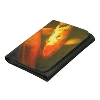 Colorful Carp Leather Tri-fold Wallet