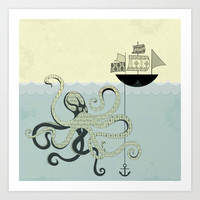 Octopus Art Print by Nosjana