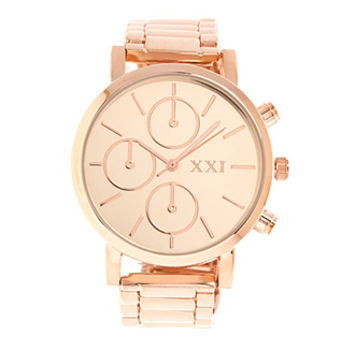 FOREVER 21 Classic Chronograph Watch Light Rose One