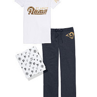 St. Louis Rams V-neck Tee & Boyfriend Pant Gift Set - PINK - Victoria's Secret