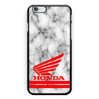 Honda Logo Marble White Print On Hard Plastic Case For iPhone 6s, 6s plus, 7