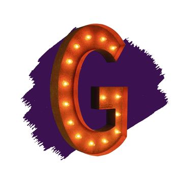 "36"" Letter G Lighted Vintage Marquee Letters (Rustic)"