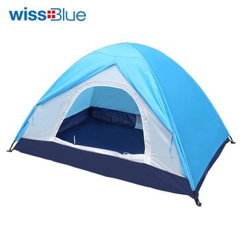 WissBlue Inflatable Bubble Camping Tent For Fishing Hunting Tourist Flytop Pyramid Double Camouflage Transparent Mosquito Net
