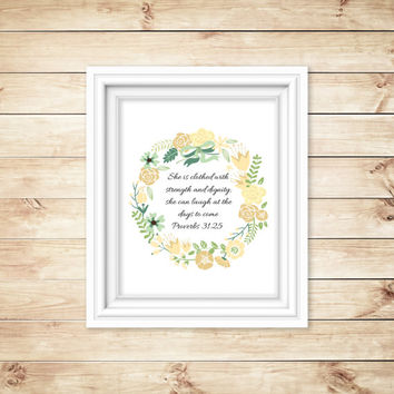 Printable Wall Art, Quote, Bible Verse