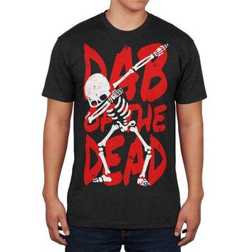 ESBGQ9 Halloween Day Dab of the Dead Skeleton Mens Soft T Shirt