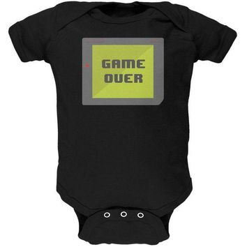 PEAPGQ9 Halloween Old School Gamer Game Over Soft Baby One Piece