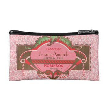 Je suis Charlie themed Paris French Girlie Custom Cosmetic Bag