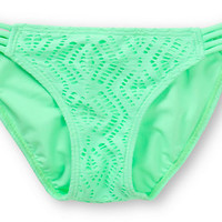 Malibu Mint Crochet Side Strap Bikini Bottom