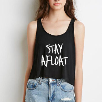 "Justin Bieber ""Cold Water / Stay Afloat"" Boxy, Cropped Tank Top"