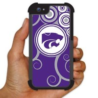Kansas State University iPhone 5 BruteBoxTM Case - Swirl Design 1 - 2 Part Rubber and Plastic Protective Case