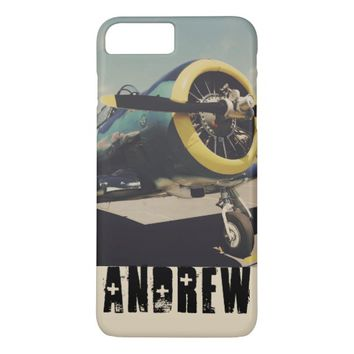 Personalized Vintage Airplane iPhone 7 Plus Case